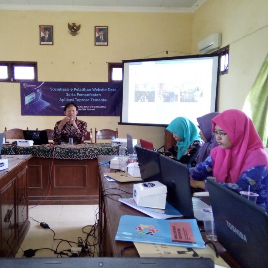 Bimbingan Teknis Website Desa se-Kecamatan Merakurak