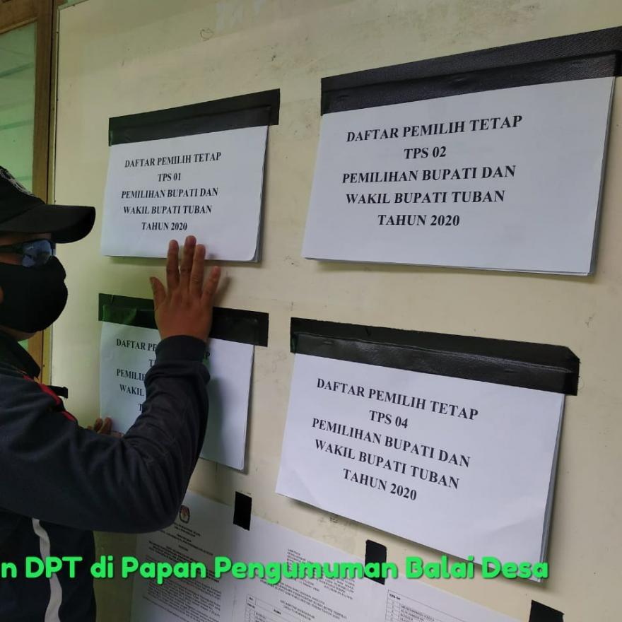 Jelang Pilbup Tuban PPS Desa Tuwirikulon Tempelkan DPT